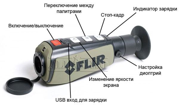 тепловизор flir ps-24 управление работой
