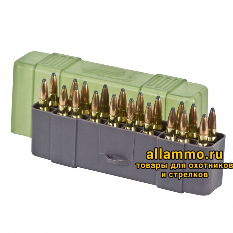 Plano Коробка 20 патронов к.30-06, 7mm Mag, .25-06 Rem, .270, .280 Rem, .338 Win. Mag, .340 Wby. Mag